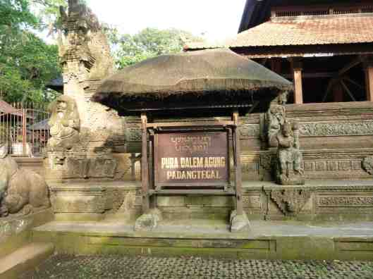 Seemingly unused temple within the Monkey Forest