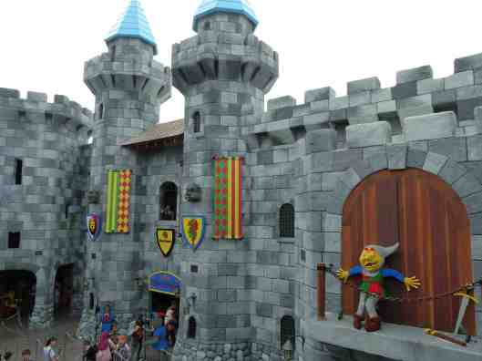The 'castle' which the roller coaster is housed