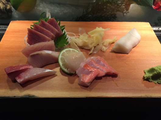 First course - sashimi