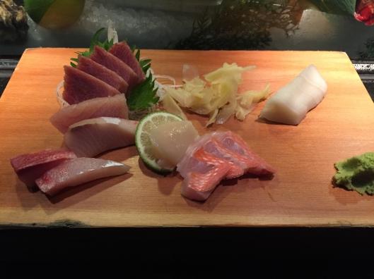 First course - sashimi