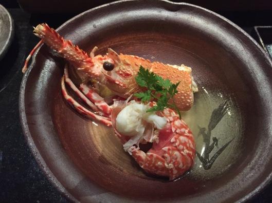 Lobster in soup