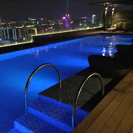 Illuminated pool