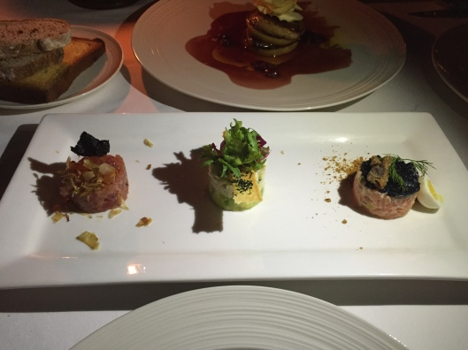 Trio of tartare