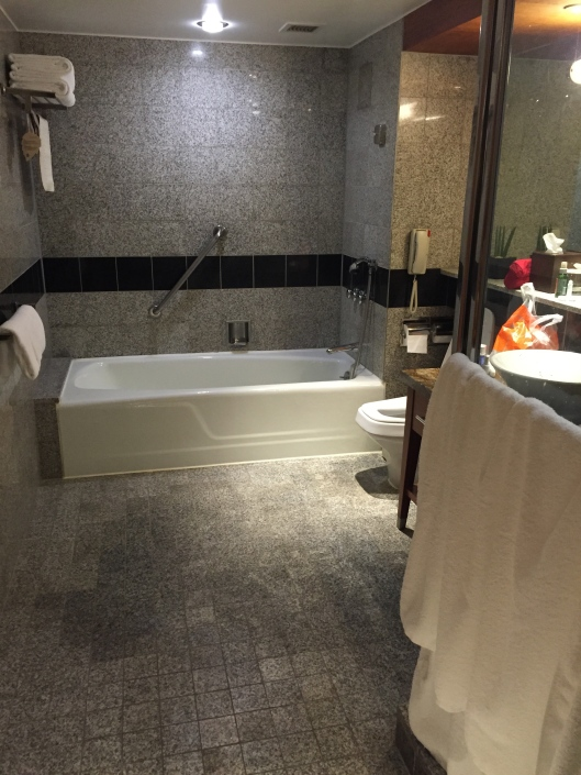 Equally spacious bathroom